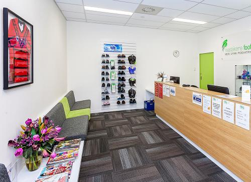 Waitakere Foot New Lynn clinic reception